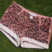 Born To Be Wild Pink Cheetah Print Jean Shorts by SheaBoutique