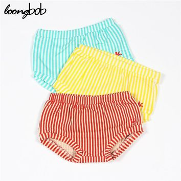 Loongbob PP Pants for Baby Boys Girls Striped Kids Shorts Infant Bloomers Newborn Clothes Organic Cotton Summer Trendy Items
