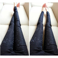 Women Black Lace Leggings