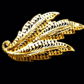 Alice Caviness Sterling Silver Brooch Gold Vermeil Filigree Signed