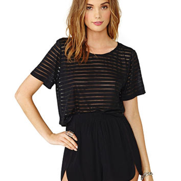 Black Pleated Shorts with Side Slit Detail