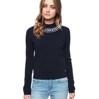 Regal Long Sleeve Embellished Quilted Pullover by Juicy Couture,