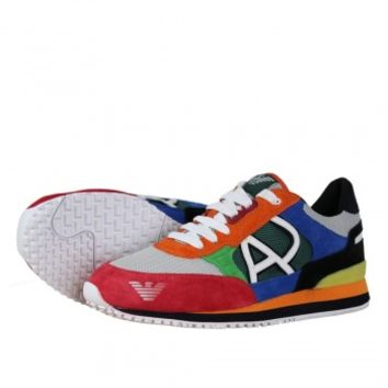 Armani Jeans T6512 S1 Mens Trainers SS13 Multicolor - Armani Jeans from Hype Direct UK