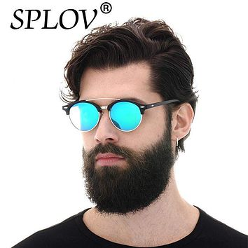 Polarized Aviator Round Sunglasses