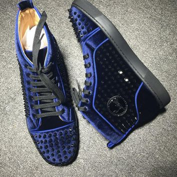 Cl Christian Louboutin Louis Spikes Style #1845 Sneakers Fashion Shoes