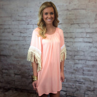 Just Peachy Tunic Dress