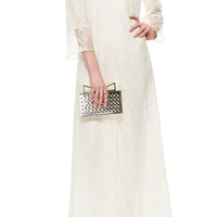 Cotton-Blend Lace Gown by Valentino - Moda Operandi