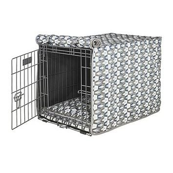 Micro Jacquard Luxury Dog Crate Cover — Titan