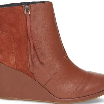 Toms Chestnut Suede Womens Desert Wedge v2 10002946