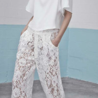 Alexis 'Jared White Lace Track' Pants | Shop Alexis