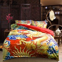 3D Dragon Bed Linen Bedding Sets Comforter Bed Cover Homemade Bedspread Duvet Cover Set Queen King Size Bedding Double Bed Sheet