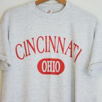 Vintage Gray Cincinnati Ohio T Shirt