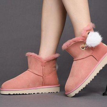 ONETOW Sale Ugg 1017501 Pink Classic Mini Irina Sheepskin Boot Snow Boots