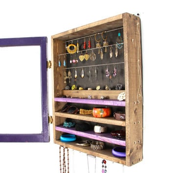purple jewelry organizer