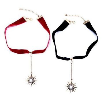 ac spbest Simple ribbon star pendant ladies necklace