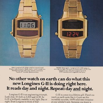 1976 Longines Watch: No Other Watch On Earth Can Do, Longines Wittnauer Print Ad