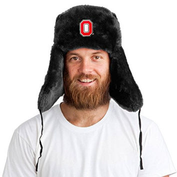 Tundra Hat + Licensed Ohio State Buckeyes Pin Included XXL 64cm Black