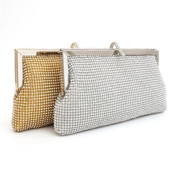 One Shoulder Rhinestone Luxury Diamonds Bags [11192762823]