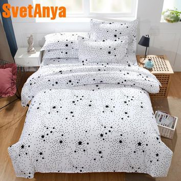 Cool Svetanya Pillowcase+Blanket Cover 3pc Bedding Set (no Sheet) white Space Style Bedclothes Twin Full Queen Double King SizeAT_93_12