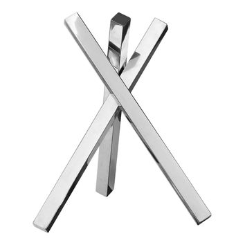 Devi Square Tubes Contemporary Stainless Steel  Sculpture by Uttermost