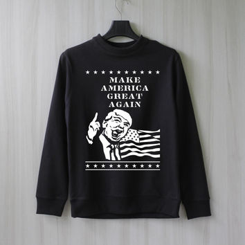 Make America Great Again Donald Trump Shirt Sweatshirt Sweater Jumper Pullover Shirt – Size XS S M L XL