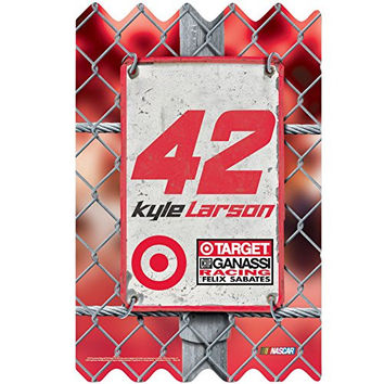 NASCAR Kyle Larson Wood Fence Sign, 11 x 17""
