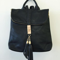 Simply Luxurious Backpack-Black