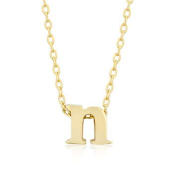 Alexia 14k Gold Pendant N Initial Necklace