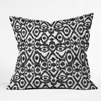 Zoe Wodarz Ikat Jungle Throw Pillow