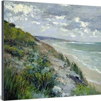 Cliffs by the Sea at Trouville Stretched Canvas Print by Gustave Caillebotte at Art.com