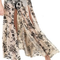 Flocked Mesh Maxi Skirt | Balera™
