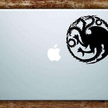 Game of Thrones House Targaryen Laptop Decal Sticker Vinyl Art Quote Macbook Apple Decor TV Shows Dragon