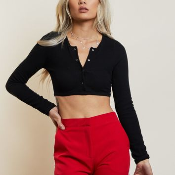 No Fuss Ribbed Cropped Top