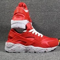 NIKE HUARACHE Wallace men and women casual shoes F-CSXY Red + white