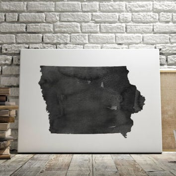 Iowa Map Watercolor Map Watercolor Printable Art Iowa Poster State Art Print Watercolor Poster State Poster Iowa Gift Instant Download
