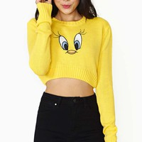 Lazy Oaf X Looney Tunes Tweety Crop Sweater