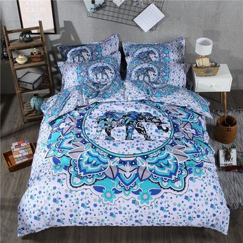 Cool Bohemian Print Bedding Set Exotic Mandala Elephant Duvet Cover Set and Pillowcase Twin Queen King Size 2/3/4 Pieces Special GiftAT_93_12