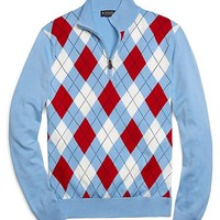 Argyle Half-Zip Sweater - Brooks Brothers
