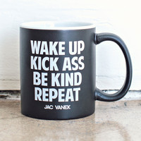 Wake Up Coffee Mug by Jac Vanek