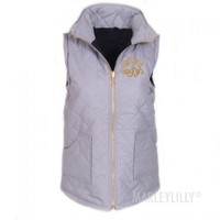 Monogrammed Quilted Vest | Marleylilly