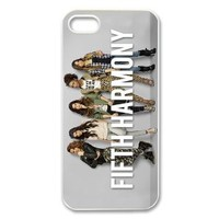 Fifth Harmony Plastic Case/Cover FOR Apple iPhone 5, Hard Case Black/White