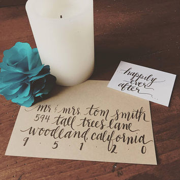 Calligraphy/Hand Lettered Envelopes