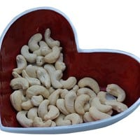 SouvNear Party Essentials Antique Love Bowls - Red Heart-Shaped Serving Bowl - A Cool Gift from India