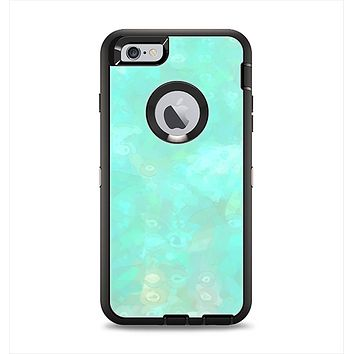 The Bright Teal WaterColor Panel Apple iPhone 6 Plus Otterbox Defender Case Skin Set