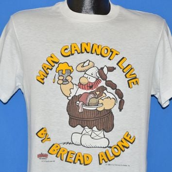 80s Hagar The Horrible Live By Bread Alone t-shirt Medium