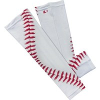 Baseball Lace Compression Arm Sleeve -S/m 2 Pack