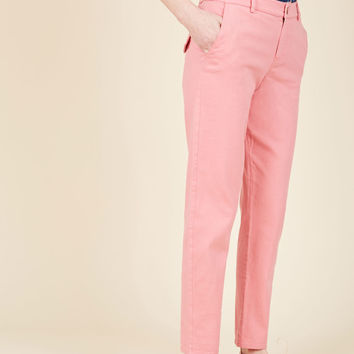 Ease of Versatility Pants in Carnation | Mod Retro Vintage Pants | ModCloth.com
