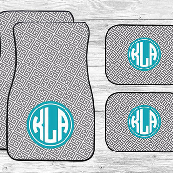 Car Mats Personalized, Monogram Car Mats, Front and Rear Back Car Mats, Car Accessories, Preppy Car Mats, Custom Car Mats, Full Set Car Mats