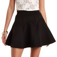 Fluted Scuba Skater Skirt by Charlotte Russe
