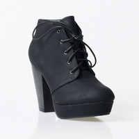 Black Lace Up Goldie Booties